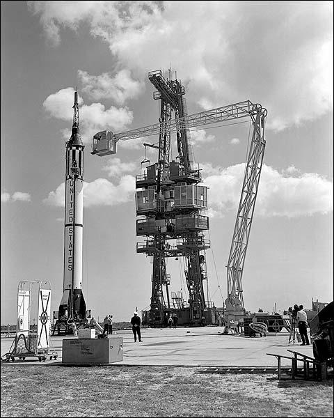 Mercury Redstone 3 MR-3 Rocket NASA Photo Print for Sale