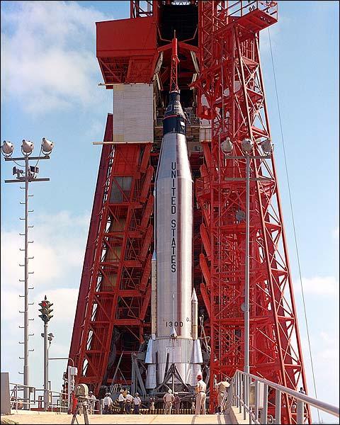 Mercury-Atlas 9 Prelaunch NASA Photo Print for Sale