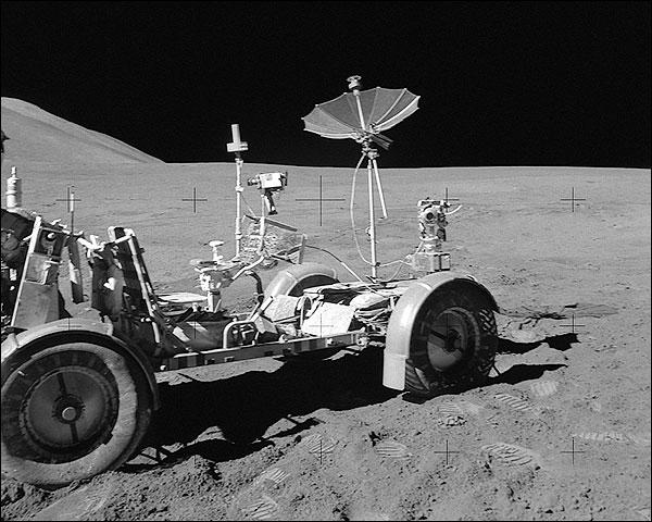 NASA Apollo 15 Lunar Rover on Moon Photo Print for Sale