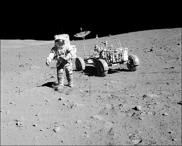 Astronaut David Scott on Moon with Apollo 15 Lunar Rover Photo Print for Sale