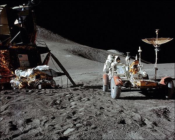 NASA Apollo 15 Lunar Module and Rover Photo Print for Sale