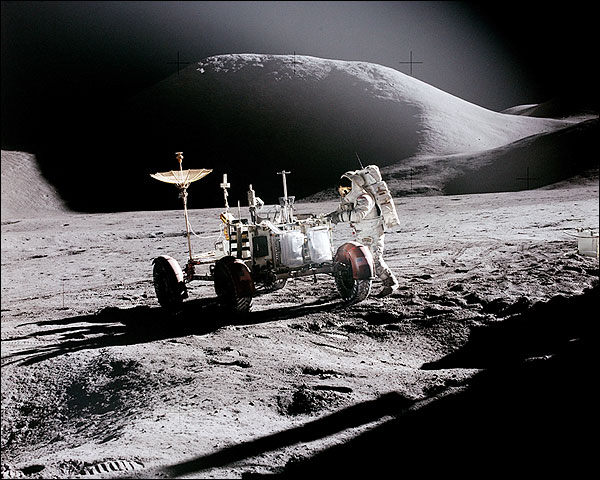 Apollo 15 Astronaut James Irwin and Lunar Rover Photo Print for Sale