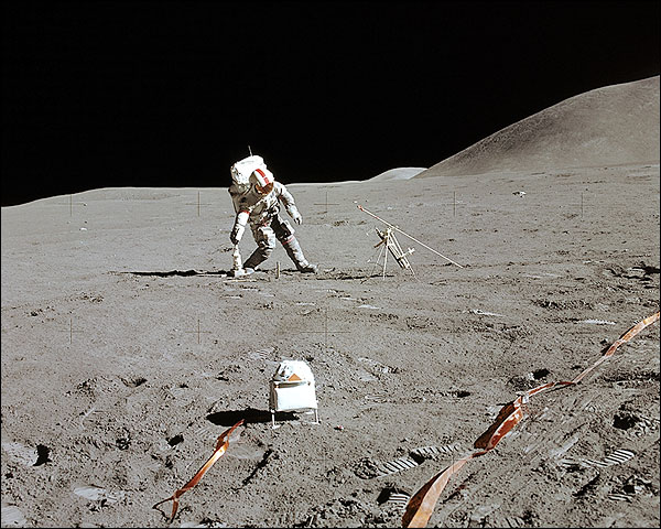 Dave Scott Apollo 15 Experiment NASA Photo Print for Sale