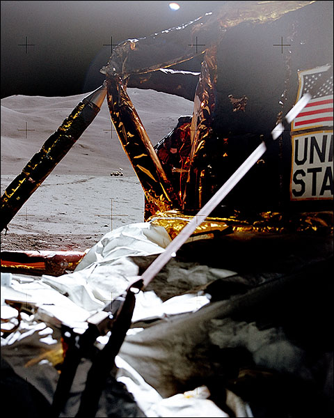 Apollo 15 Final Photo of Lunar Rover From Lunar Lander Photo Print for Sale