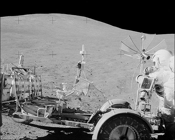Apollo 15 NASA Astronaut David Scott with Lunar Rover Photo Print for Sale