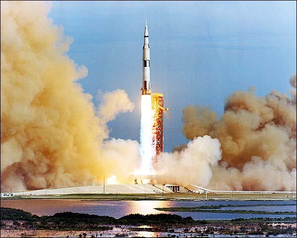 NASA Apollo 15 Saturn Booster Launch Photo Print for Sale