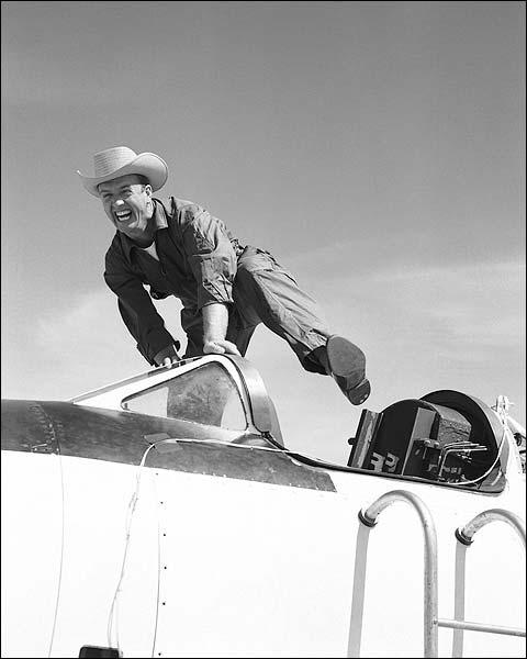 Test Pilot Joe Walker With Bell X-1A / X-1 Photo Print for Sale