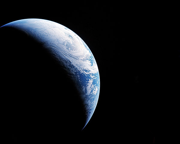 View of Earth From NASA Apollo 4 Photo Print for Sale