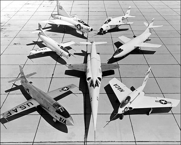 X-1 D-558 XF-92 X-5 X-4 & X-3 Fleet Photo Print for Sale