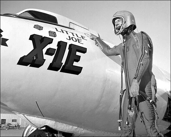 X-1E Rocket Plane w/ Joe Walker Photo Print for Sale
