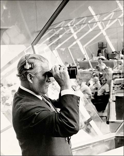 Wernher Von Braun Watching Apollo 11 Liftoff Photo Print for Sale