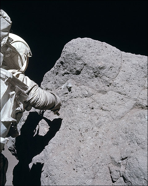 Apollo 17 Astronaut Harrison Schmitt EVA Photo Print for Sale
