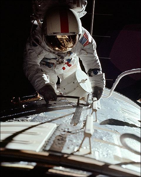 NASA Astronaut Ronald Evans Trans-Earth EVA Apollo 17 Photo Print for Sale