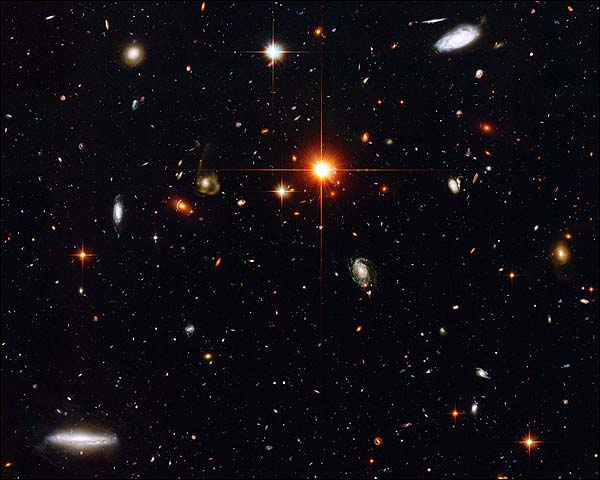 Distant Galaxies Hubble Space Telescope Photo Print for Sale
