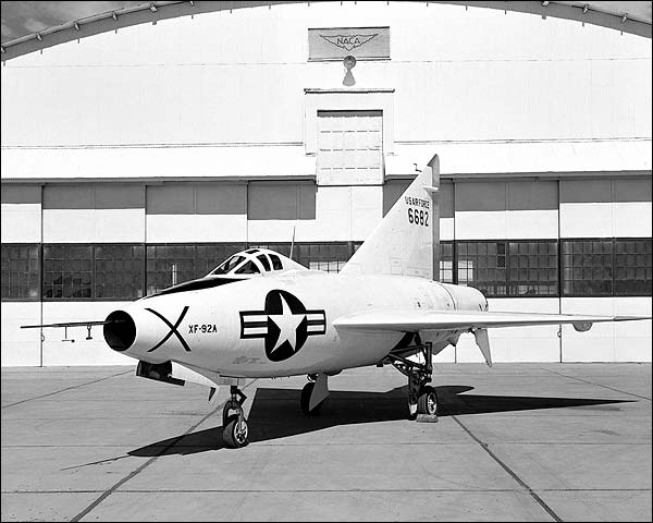 Convair XF-92A Dart on Ramp Photo Print for Sale