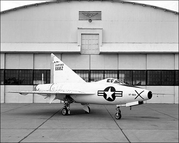 Convair XF-92 Dart on Ramp Photo Print for Sale