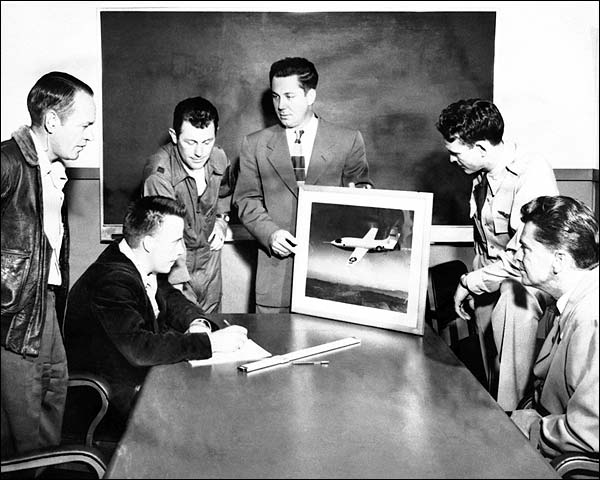 X-1 Flight Team Chuck Yeager & Others Photo Print for Sale