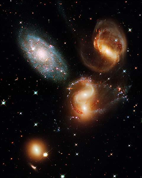 Stephan's Quintet Hubble Space Telescope Photo Print for Sale