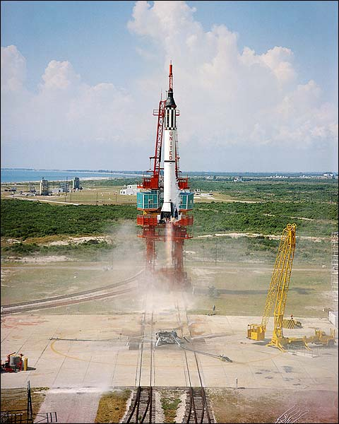 Freedom 7 Mercury Redstone Launch Photo Print for Sale