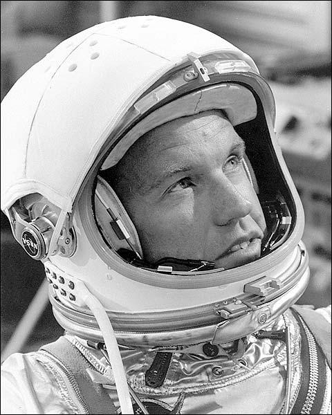 Astronaut Gordon Cooper in Helmet Photo Print for Sale