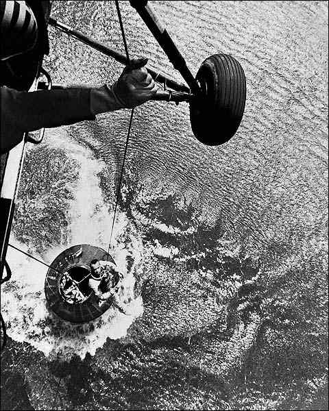 Mercury Recovery Helicopter with Astronaut Alan Shepard Photo Print for Sale