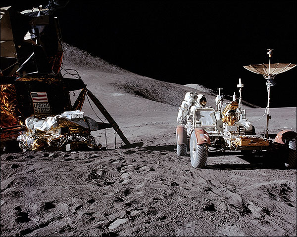 Apollo 15 James Irwin Loads Lunar Rover Photo Print for Sale