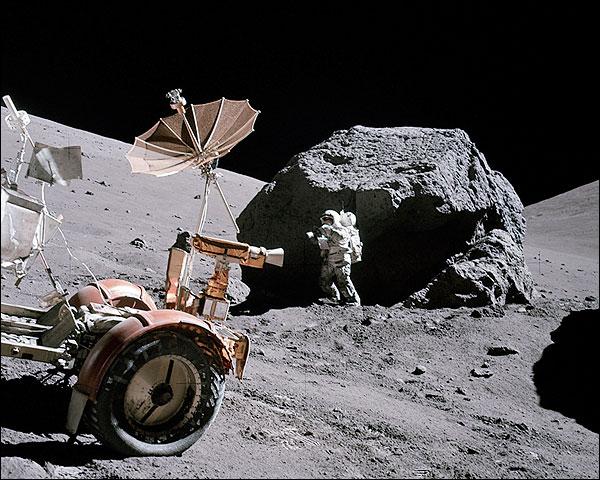 Apollo 17 Harrison Schmitt on Moon Photo Print for Sale
