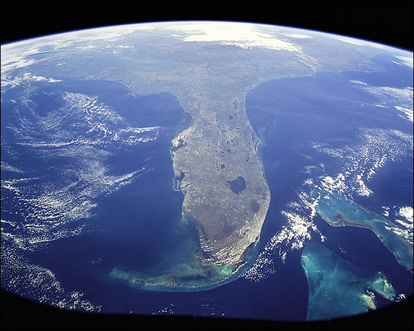 Florida & Bahamas Seen from Space Photo Print for Sale