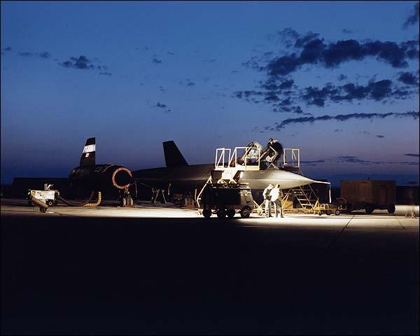 SR-71 Blackbird Aircraft at Dawn NASA Photo Print for Sale