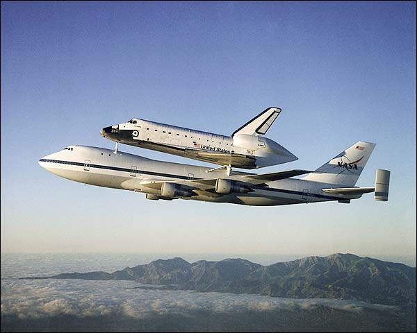 Space Shuttle Atlantis Piggyback Boeing 747 Photo Print for Sale