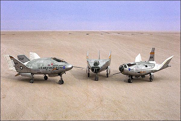 X-24A, M2-F3 & HL-10 Lifting Bodies NASA Photo Print for Sale