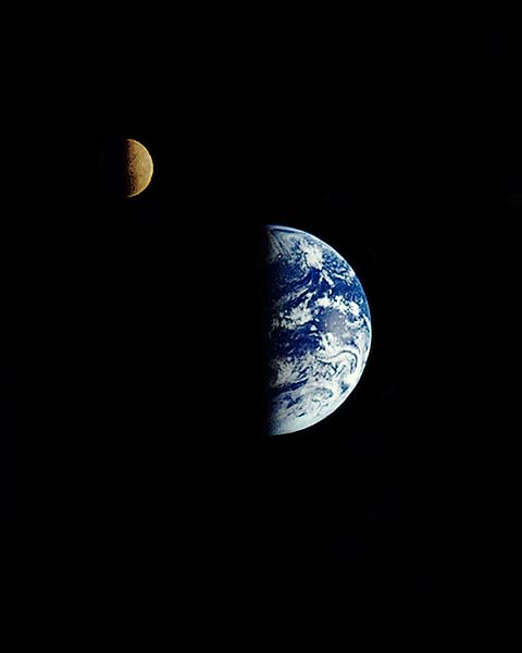 Galileo Flyby of Earth & Moon NASA Photo Print for Sale