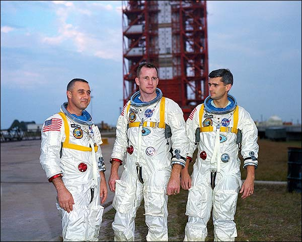Apollo 1 Astronauts Gus Grissom, Ed White & Roger Chaffee Photo Print for Sale