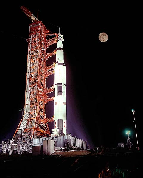 Apollo 17 Saturn V Rocket Prelaunch Photo Print for Sale