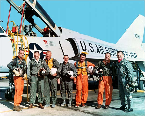 Mercury Seven Astronauts in Flight Gear Photo Print for Sale