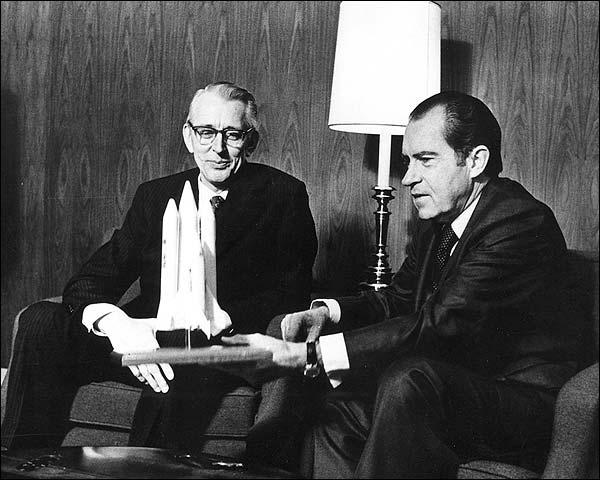 Richard Nixon Discusses Space Shuttle Photo Print for Sale