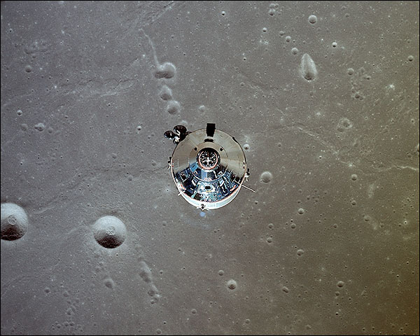 Apollo 11 Command Module on Moon Photo Print for Sale
