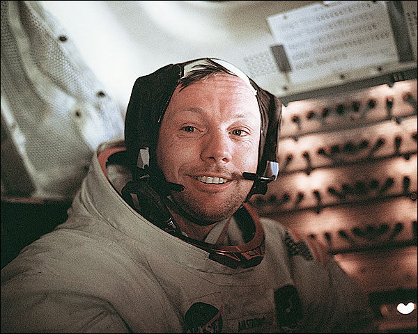 Apollo 11 Neil Armstrong and Lunar Module Photo Print for Sale