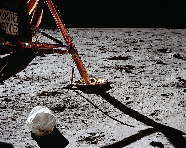 Apollo 11 1st by Neil Armstrong on Moon Photo Print for Sale