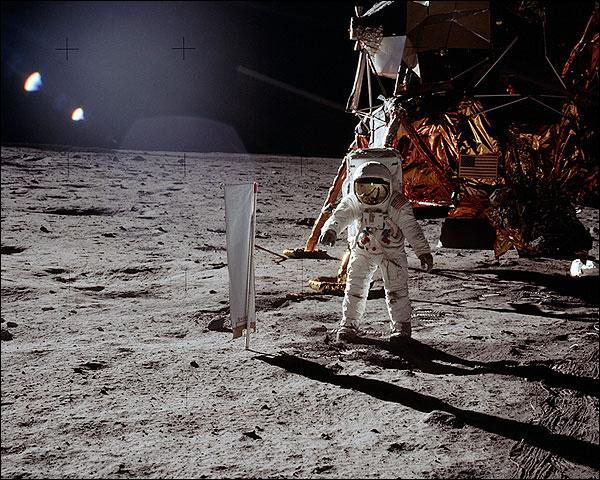 Apollo 11 Buzz Aldrin with Lunar Module Photo Print for Sale