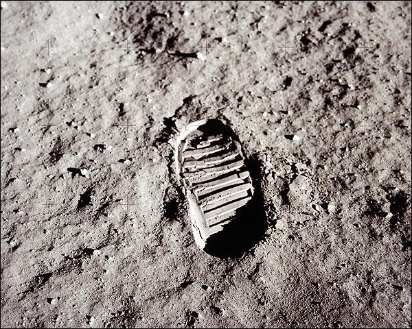 Apollo 11 Buzz Aldrin Footprint Moon Photo Print for Sale