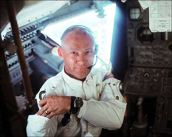 Apollo 11 Buzz Aldrin in Lunar Module Photo Print for Sale