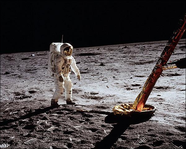 Apollo 11 Buzz Aldrin by Lunar Module Photo Print for Sale