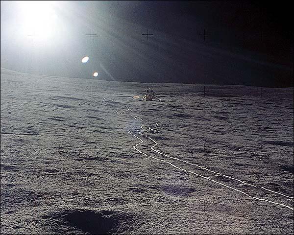 Apollo 14 Lunar Module Antares on Moon NASA Photo Print for Sale