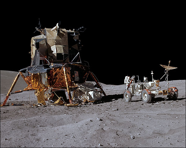 Apollo 16 John Young Lunar Module & Rover Photo Print for Sale