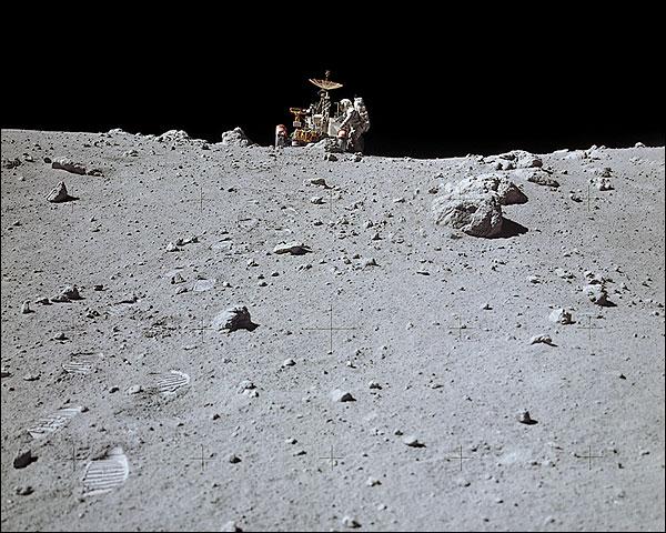 Apollo 16 Astronaut Charles Duke on Moon Photo Print for Sale