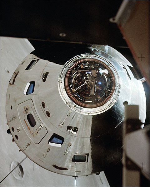 Apollo 17 CSM America in Lunar Orbit NASA Photo Print for Sale