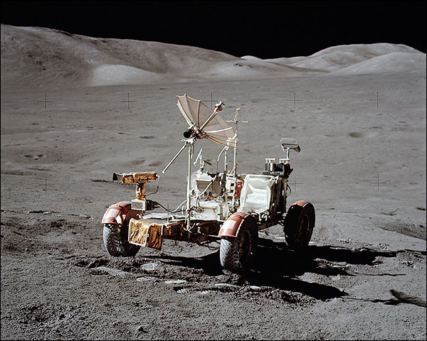 Apollo 17 Lunar Roving Vehicle LRV on Moon Photo Print for Sale