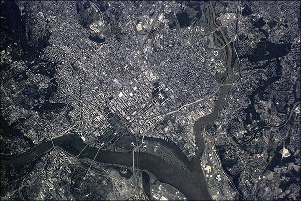 Washington D.C. Aerial Satellite Photo Print for Sale