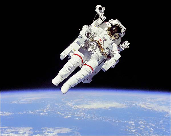 Space Shuttle Bruce McCandless Space Walk Photo Print for Sale